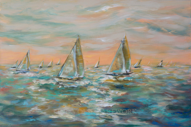 Ocean Regatta is 36x24x1.5""