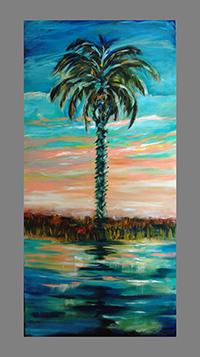 SIngle palm SUNset 20x40old