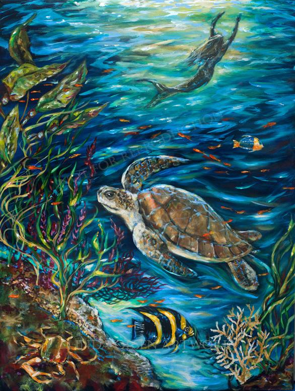 Underwater Friends II 36x48