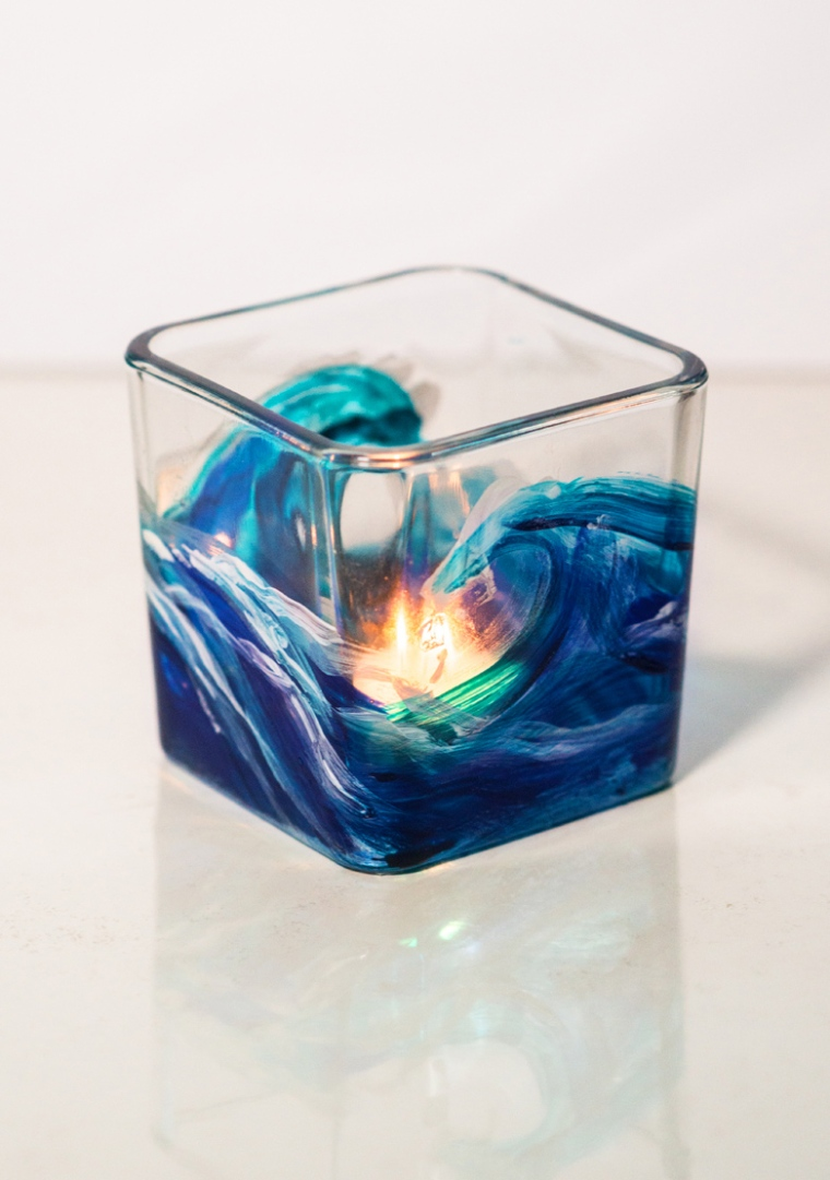 wave votive square