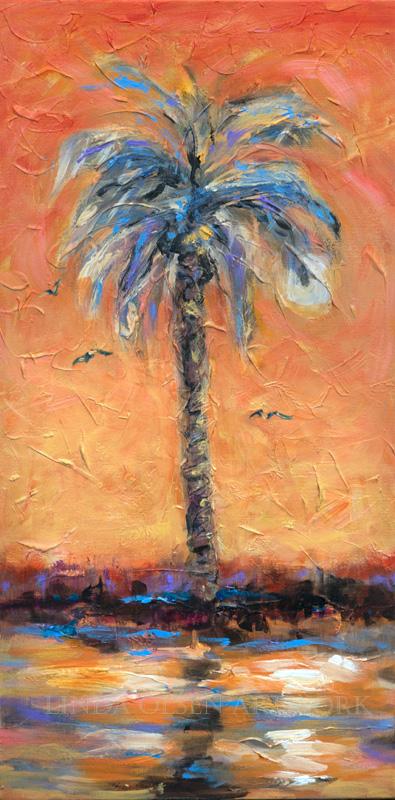 Palm Orange Sky 15x30