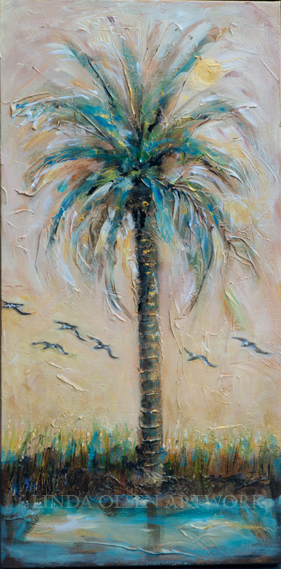 Palms and Pelicans 15x30