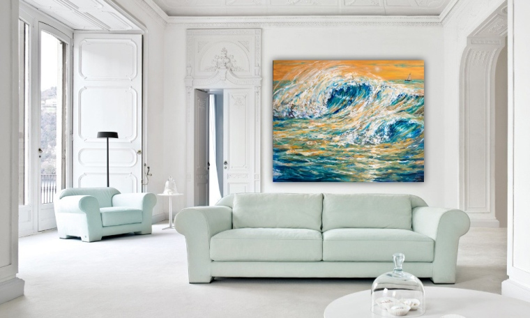 waves with sofa