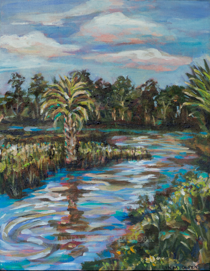 Crazy Fish Waterway 14x18