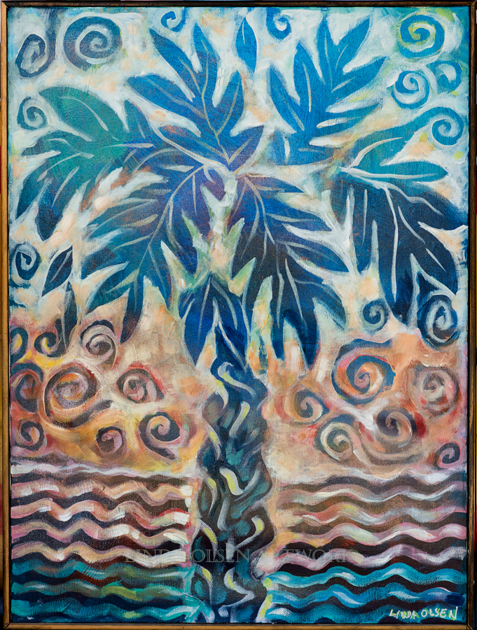 Joyful Palm 18x24