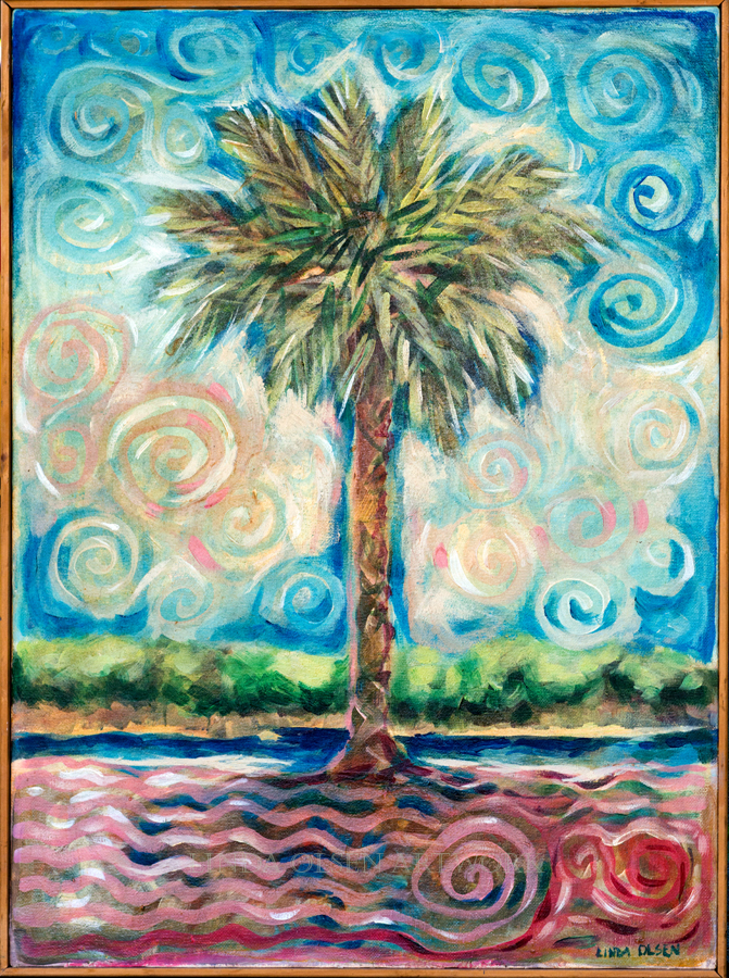 Palm Joyful 18x24