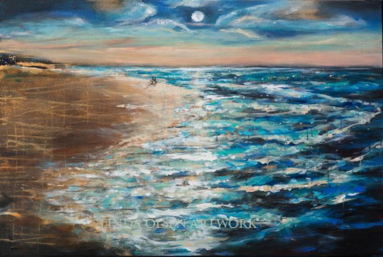 Moonlit Stroll III 36x24