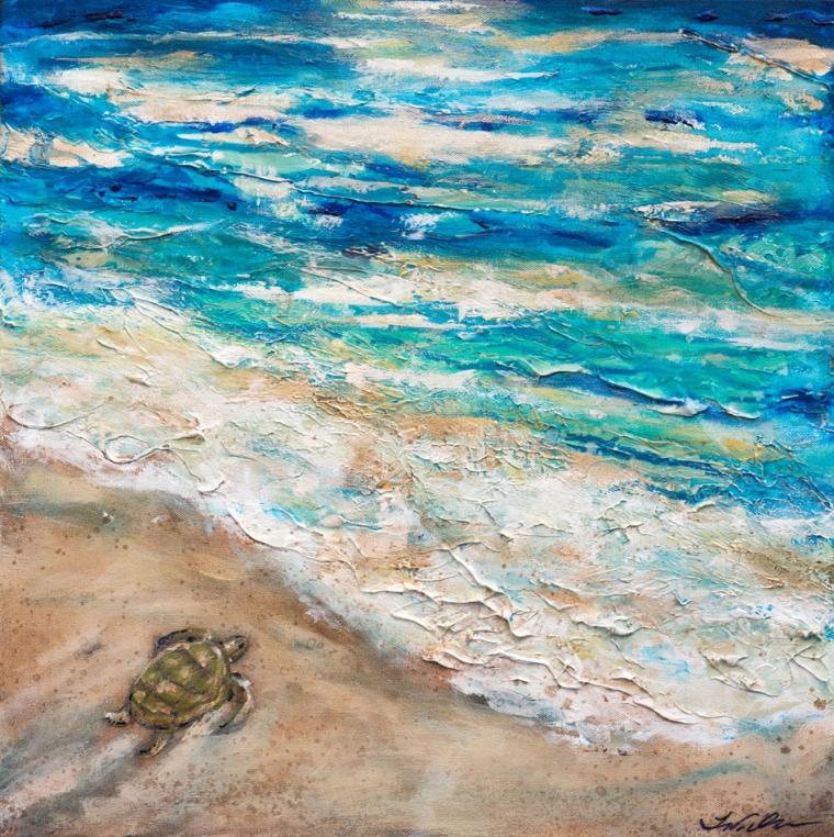 Baby Sea Turtle III  20x20