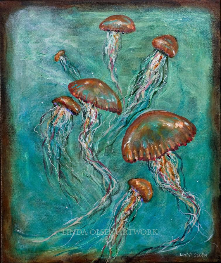Jellyfish Ballet 20x24