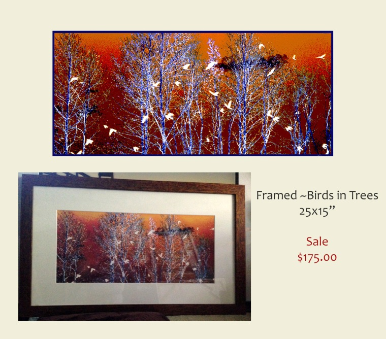 Framed Gallery artwork on sale half priced. Contact lindaolsenart@gmail.com for more information. I take all credit cards. Shipping available.