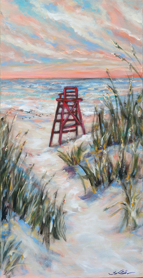 Lifeguard Chair & Dunes 15x30