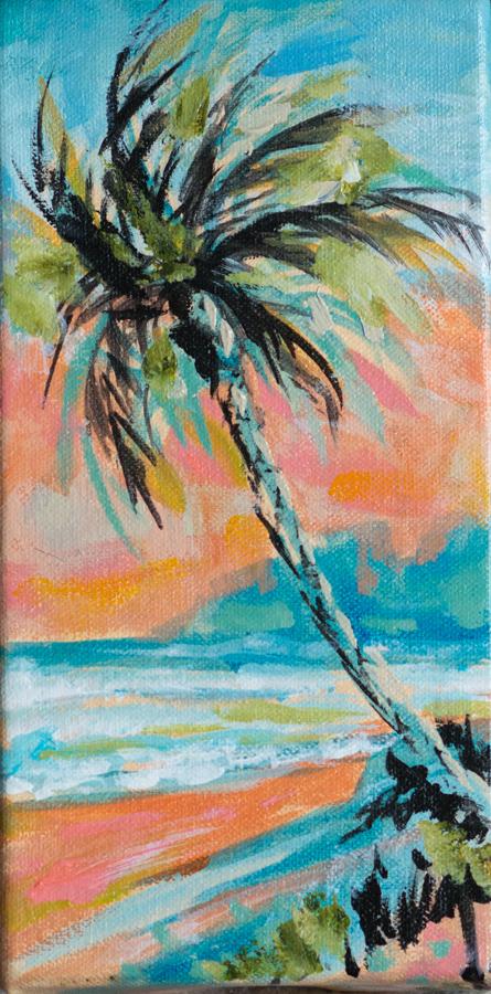 Palm Coral Sky 4x8