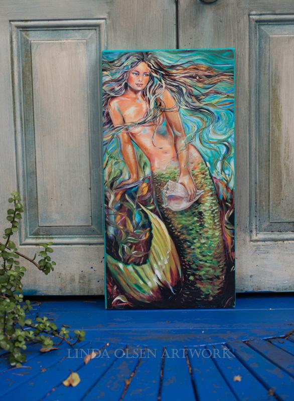 Mermaid giclee 10x20