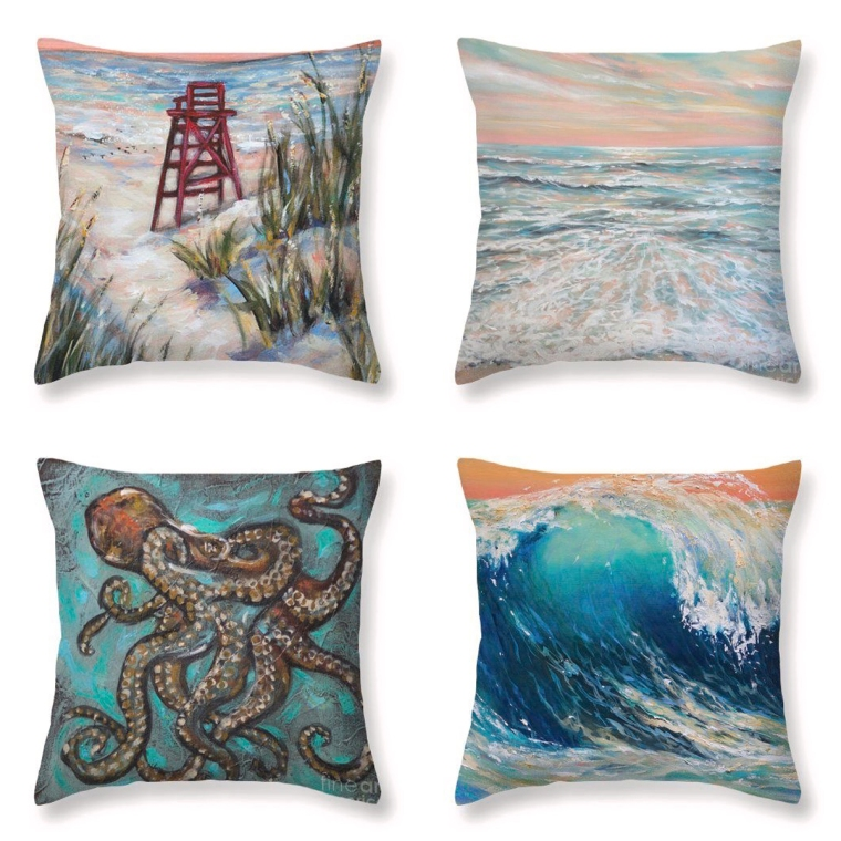 pillows with art