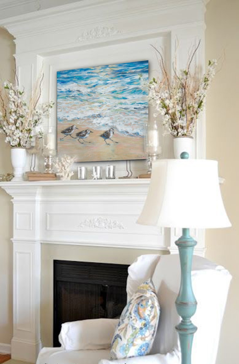 Sanderlings Fireplace