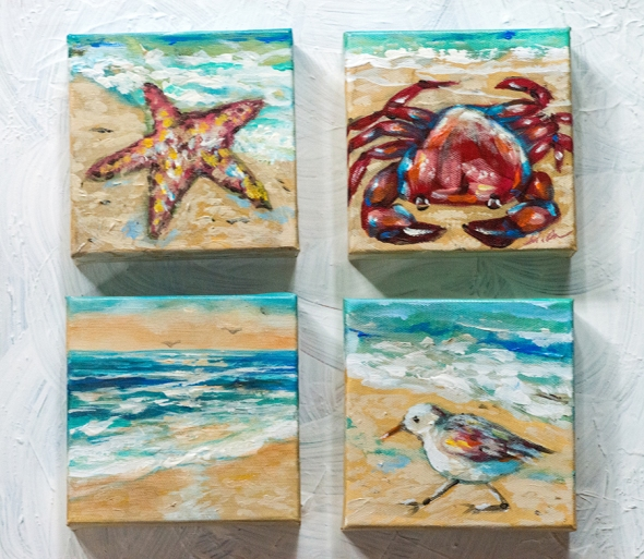 small 5x5 paintings x