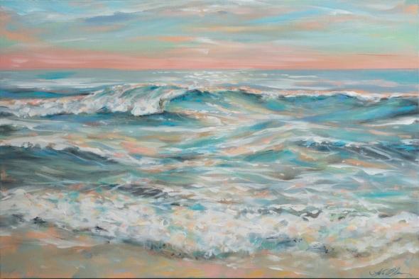 Waves at Dusk 36x24