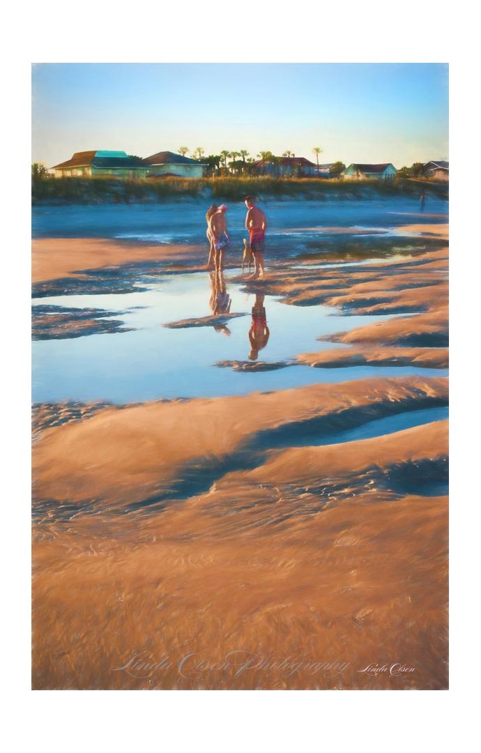 reflections at beach