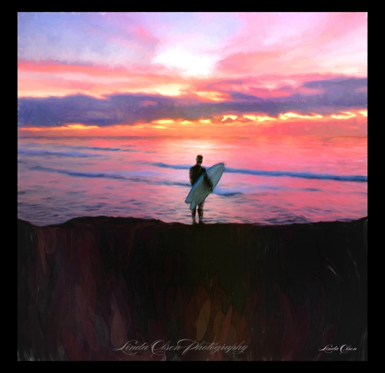 surfer at cliff