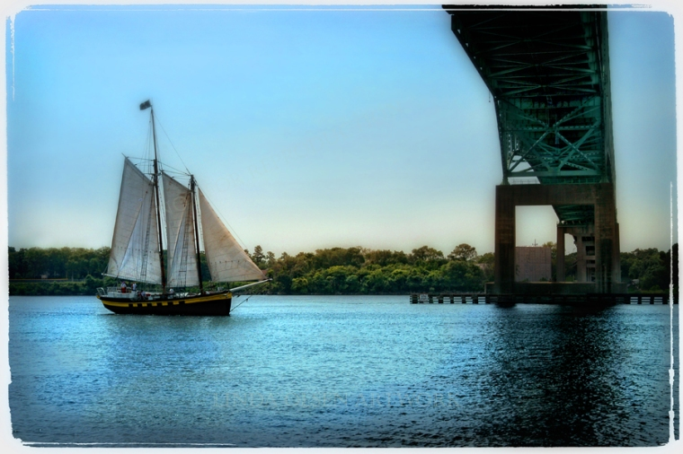 tall ship & bridge