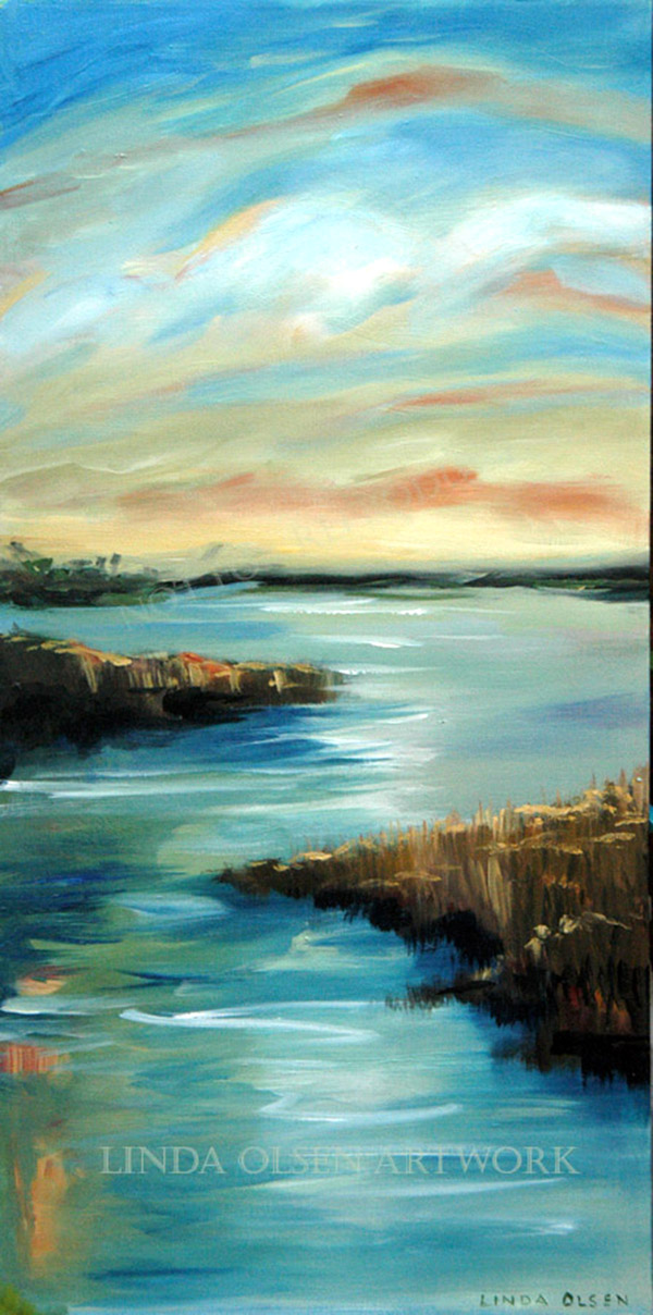 """Sunset View"" was recently purchased by a lovely lady in Darien, Georgia. It is 15x30"