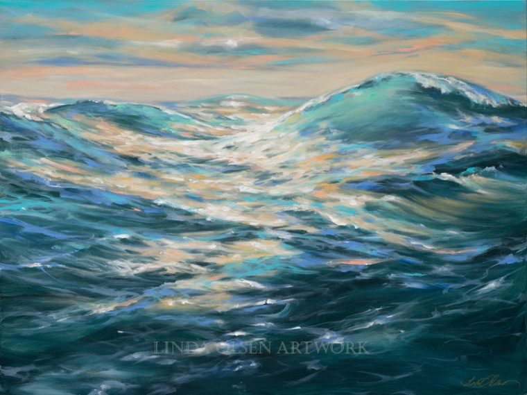 Paddling Out 48x36